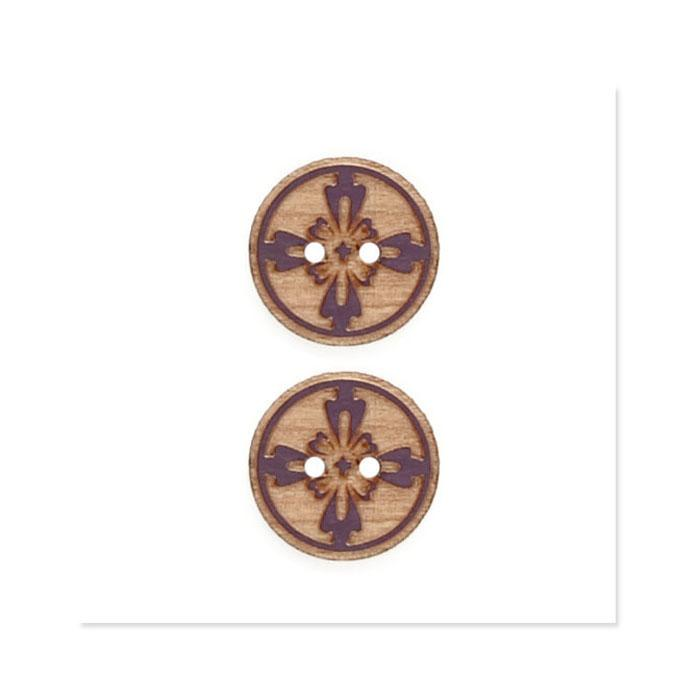 Organic Elements Wood Button 3/4&#39;&#39; Brown