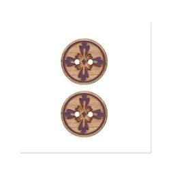 Organic Elements Wood Button 3/4'' Brown