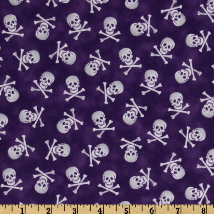 Pirates & Indians Skull & Bones Purple