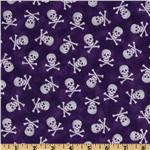 FU-040 Pirates & Indians Skull & Bones Purple