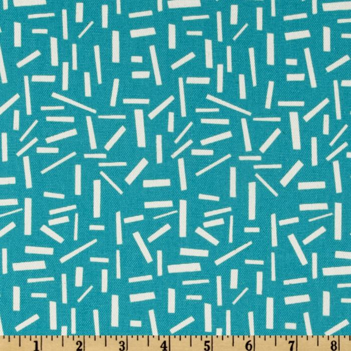 Premier Prints Sprinkles Sunshine Aqua/Natural