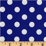 Brights &amp; Pastels Basics Polka Dot Navy