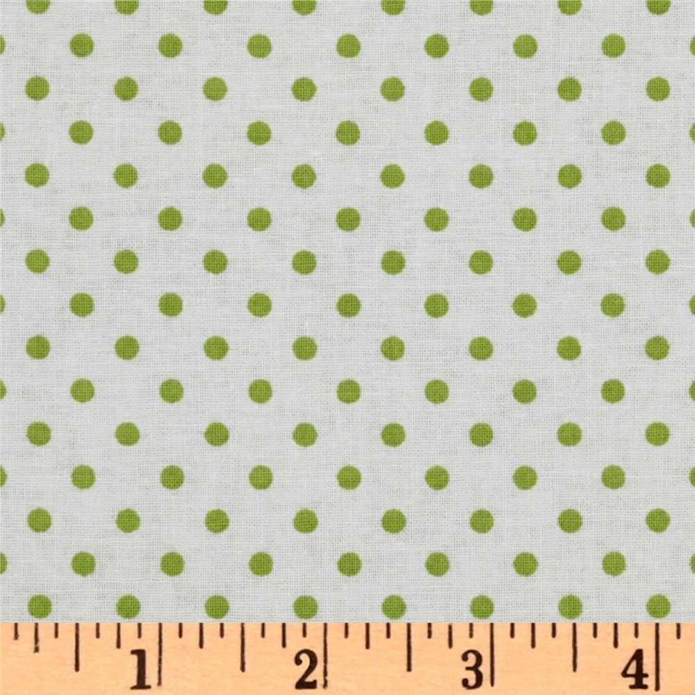 Crazy for Dots & Stripes Dottie White/Lime