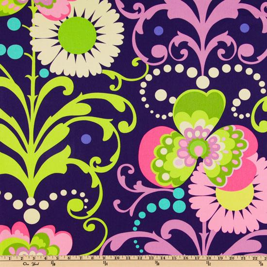 Amy Butler Home Dcor Love Twill Paradise Garden Midnight
