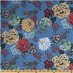 UP-646 Liberty of London Tana Lawn Meandering Chrysanthemums Blue
