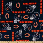 DL-967 NFL Fleece Chicago Bears Blue/Orange Helmets