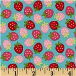 238496 Riley Blake Sweetcakes Strawberries Blue