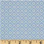 0280129 Moda Jubilee Medallion Check Blue