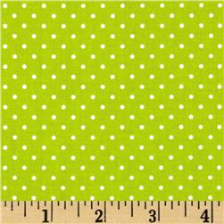 Riley Blake Swiss Dots Lime/White