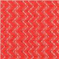 Copacabana Stretch Crochet Chevron Lace Coral