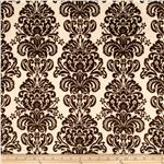Minky Cuddle Damask Ivory/Brown
