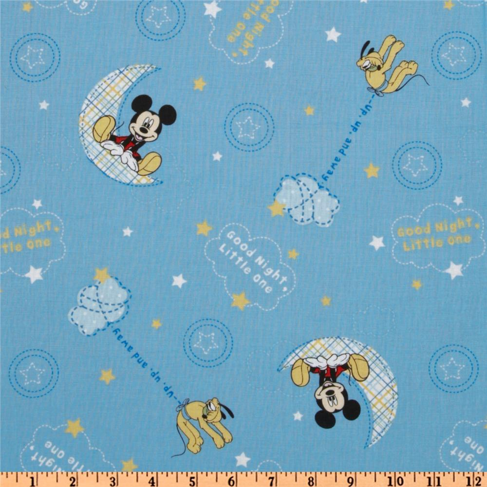 Mickey Good Night Toss Blue
