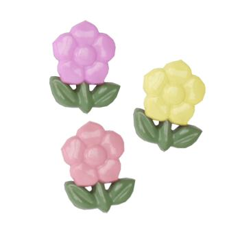Novelty Button 5/8'' Hermosas Flores Multi