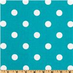UI-369 Premier Prints Polka Dot Turquoise/White
