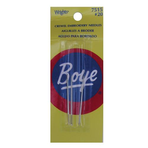 Boye Crewel Needle Size 20 - 3 pieces