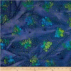 Indian Batik Butterflies Violet