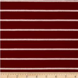 Stretch Rayon Blend Hatchi Knit Stripes Red/White
