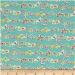 0277964 Blossoming Kind Words Aqua