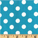 Brights &amp; Pastels Basics Polka Dot Turquoise