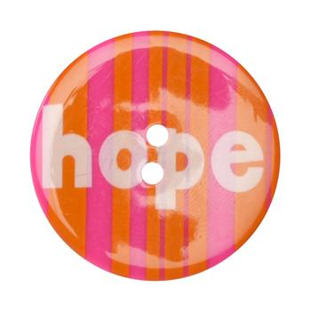 Novelty Button 1-3/8&#39;&#39; Hope Orange