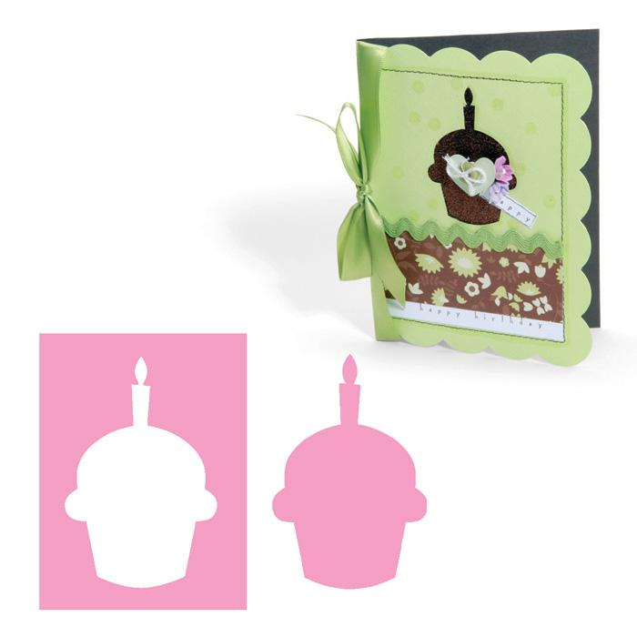 Sizzix Movers & Shapers Magnetic Die - Cupcake