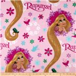 0268657 Disney Fleece Rapunzel Long Locks Pink
