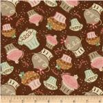 Sweet Treats Collection Flannel Cupcakes Chocolate