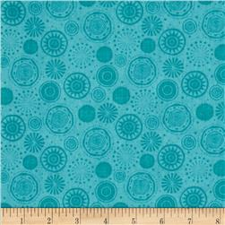 Fall Fun Tonal Circles Teal