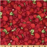 DL-247 Farmer John's Marketplace II Raspberries Red/Pink