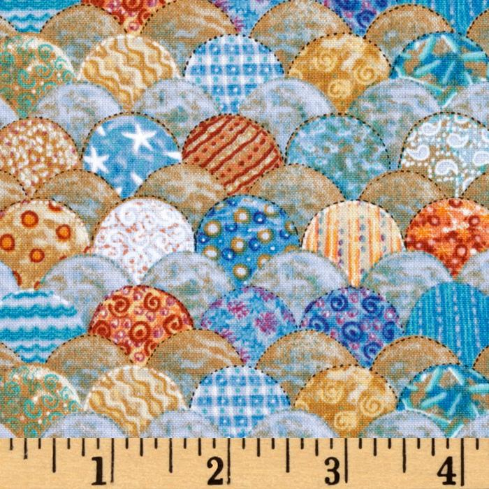 Sea Quilts Scallops Blue