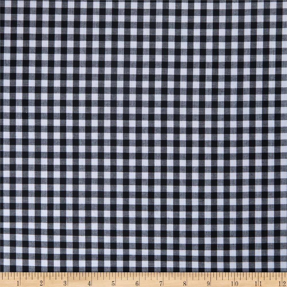 Woven 1/4 Gingham Black