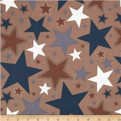 Riley Blake Super Star Flannel Large Star Tan