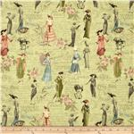 0274278 A Ladies&#39; Diary Fashion Plates Green