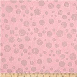 Embroidered Cotton Lawn Circles Pink