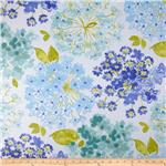 0276392 P Kaufmann Flower Bed Twill Blueberry