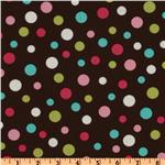 Crazy for Dots &amp; Stripes Tossed Dots Brown/Multi