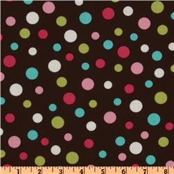 Crazy for Dots & Stripes Tossed Dots Brown/Multi