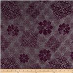 0281140 Crinkle Chiffon Bohem Floral Mauve