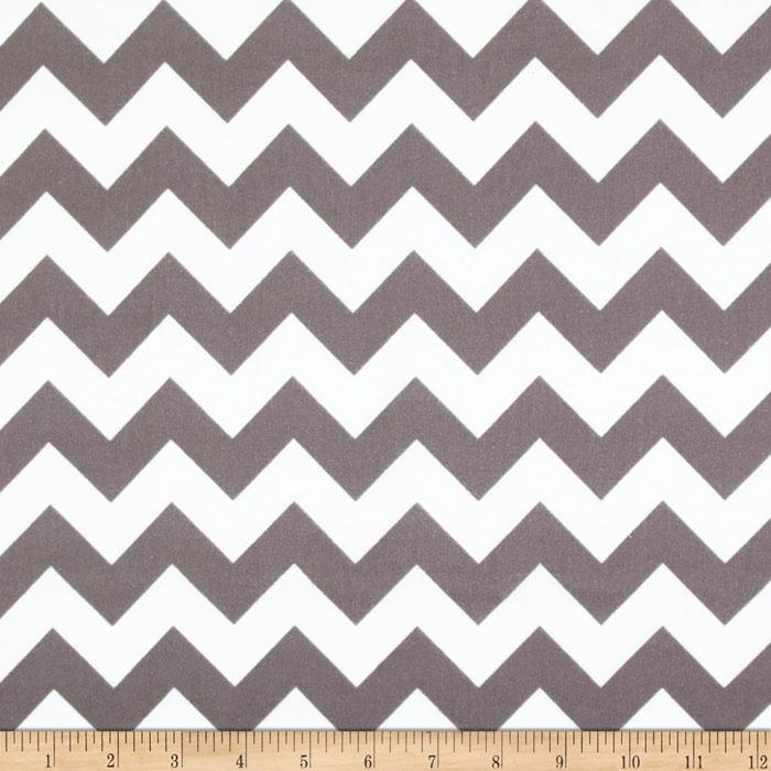 Riley Blake Flannel Basics Chevron Medium Grey