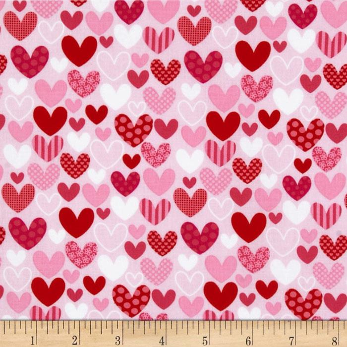 Riley Blake Sweetcakes Hearts Pink
