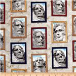 Mount Rushmore Framed Presidents Natural