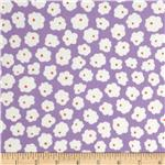 0293110 Patchwork Pals Flowerheads Purple