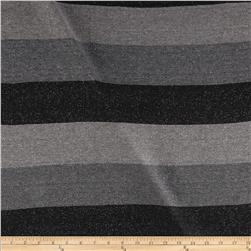 Designer Sparkle Hatchi Knit Stripe Charcoal
