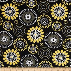 Mellow Yellow Large Circle Black