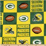 CK-170 NFL Fleece Green Bay Packers Squares Green/Yellow/White