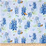 Morning Meadows Large Floral Blue