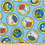 0294045 Camp Peanuts Camping Badges Blue