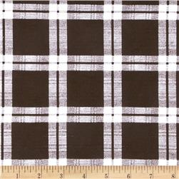 French Terry Plaid White/Brown