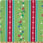 FI-985 Winterscapes Stripes Christmas Green