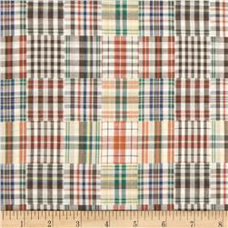 Designed Yarn Dyed Double Cloth Shirting Plaid Multi